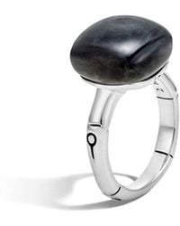 John Hardy | Batu Bamboo Silver Ring With Labradorite | Lyst