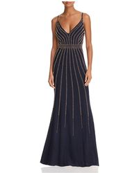 Betsy & Adam - Beaded Gown - Lyst