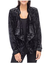 B Collection By Bobeau - Magda Crushed Velvet Drape Jacket - Lyst