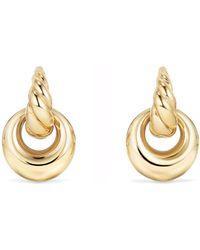 David Yurman - Pure Form Drop Earrings In 18k Gold - Lyst