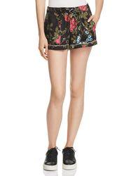 Pam & Gela - Floral Print Drawstring Shorts - Lyst