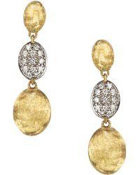 Marco Bicego - Diamond Siviglia Earrings In 18k Yellow Gold - Lyst