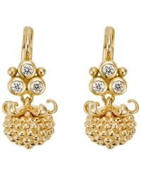 Temple St. Clair - 18k Yellow Gold Mini Pod Drop Earrings With Diamonds - Lyst