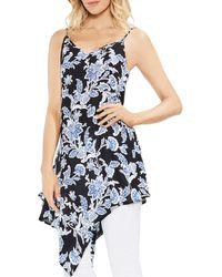 Vince Camuto - Floral-print Asymmetric Tunic - Lyst