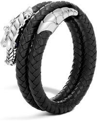John Hardy - Legends Naga Coiled Leather Bracelet - Lyst