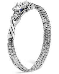 John Hardy - Sterling Silver Legends Naga Multi-chain Bracelet With Sapphire Eyes - Lyst