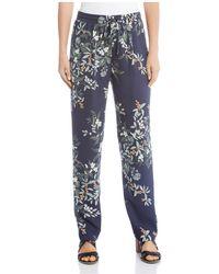 Karen Kane - Floral-print Drawstring Trousers - Lyst