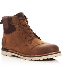 TOMS - Ashland Leather Boots - Lyst