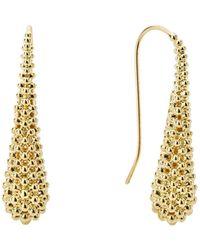 Lagos - Caviar Gold Teardrop Earrings - Lyst
