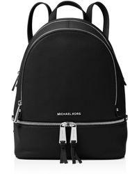 MICHAEL Michael Kors - Rhea Zip Medium Leather Backpack - Lyst
