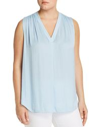 Vince Camuto Signature - Shirred V - Neck Top - Lyst