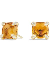 David Yurman - Châtelaine Earrings With Citrine In 18k Gold - Lyst