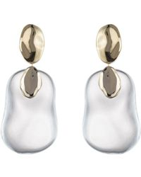 Alexis Bittar - Gold Disk Liquid Lucite Dangle Earrings - Lyst