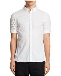 AllSaints - Redondo Half Sleeve Slim Fit Button-down Shirt - Lyst
