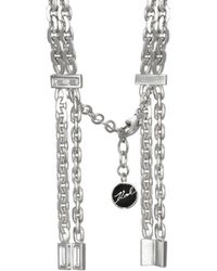 Karl Lagerfeld - Liquid Baguette Chain Bracelet - Lyst