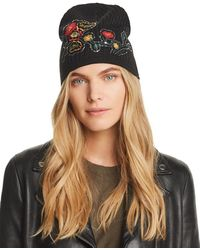 Aqua - Floral Embroidered Hat - Lyst
