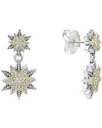 Lagos - 18k Gold & Sterling Silver North Star Diamond Double Drop Earrings - Lyst