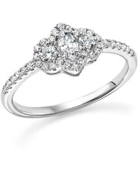 Bloomingdale's - Diamond Marquise And Round Cut Center Ring In 14k White Gold, .50 Ct. T.w. - Lyst