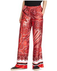 Ralph Lauren - Lauren Paisley-print Wide-leg Pants - Lyst