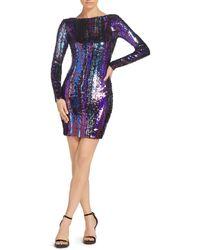 Dress the Population - Lola Sequined Mini Dress - Lyst