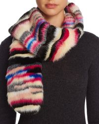 Bloomingdale's - Multicolor Faux Fur Scarf - Lyst