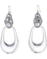 Alexis Bittar - Crystal Cluster Loop Drop Earrings - Lyst