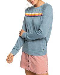 Roxy Striped Detail Sweatshirt - Blue