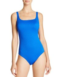 c718b48541e2 Gottex One-piece Sultan High-neck Swimsuit in Blue - Lyst