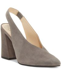 Vince Camuto - Women's Tashinta Pointed-toe Block High-heel Court Shoes - Lyst