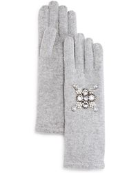 Aqua   Embellished Gloves   Lyst