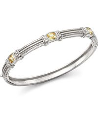 Judith Ripka - Triple Cushion Bangle Bracelet With Canary Crystal - Lyst