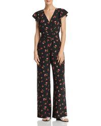 Re:named - Floral-print Open-back Jumpsuit - Lyst