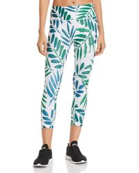 Prismsport - Botanical Print Cropped Leggings - Lyst