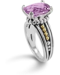 Lagos - 18k Gold And Sterling Silver Prism Amethyst Ring - Lyst