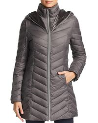 Laundry by Shelli Segal - Mixed Quilt Puffer Coat - Lyst