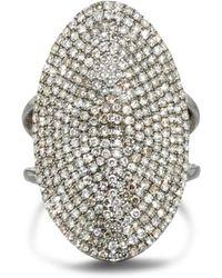 Ela Rae - Oval Diamond Cocktail Ring - Lyst