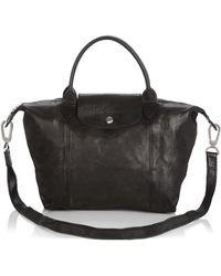 Longchamp - Le Pliage Small Leather Satchel - Lyst