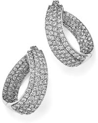 Bloomingdale's - Diamond Multi Row Inside Out Oval Hoop Earrings In 14k White Gold, 4.70 Ct. T.w. - Lyst