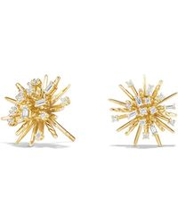 David Yurman - Supernova Stud Earrings With Diamonds In 18k Gold - Lyst