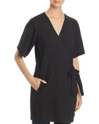 Eileen Fisher - Wrap-front Tunic Top - Lyst