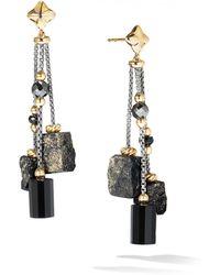 David Yurman - Bijoux Bead Link Drop Earrings With 18k Yellow Gold & Black Onyx - Lyst