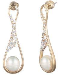 Carolee - Pavé Crystal & Cultured Freshwater Pearl Drop Earrings - Lyst