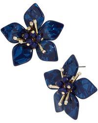 BaubleBar - Amarise Floral Stud Earrings - Lyst