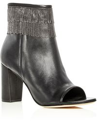 Bernardo - Honour Beaded Fringe Open Toe Booties - Lyst