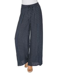B Collection By Bobeau - Ita Side-slit Dot-printed Trousers - Lyst