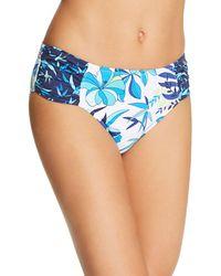 Tommy Bahama - Tropical High Waist Shirred Hipster Bikini Bottom - Lyst