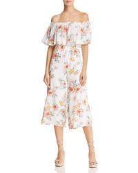 Sage the Label - Gigi Off-the-shoulder Floral Jumpsuit - Lyst