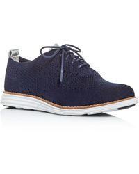 Cole Haan Women's Original Grand Stitchlite Knit Wingtip Oxfords Ii - Blue