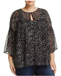 Lucky Brand - Bell Sleeve Paisley Print Top - Lyst