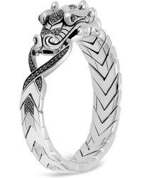 John Hardy - Men's Legends Naga Dragon Sterling Silver Bracelet With Spinel - Lyst